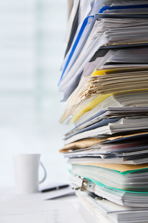 Stack-of-medical-records for case evaluation